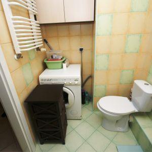 PRZED: łazienka nie było remontowana od wielu lat.