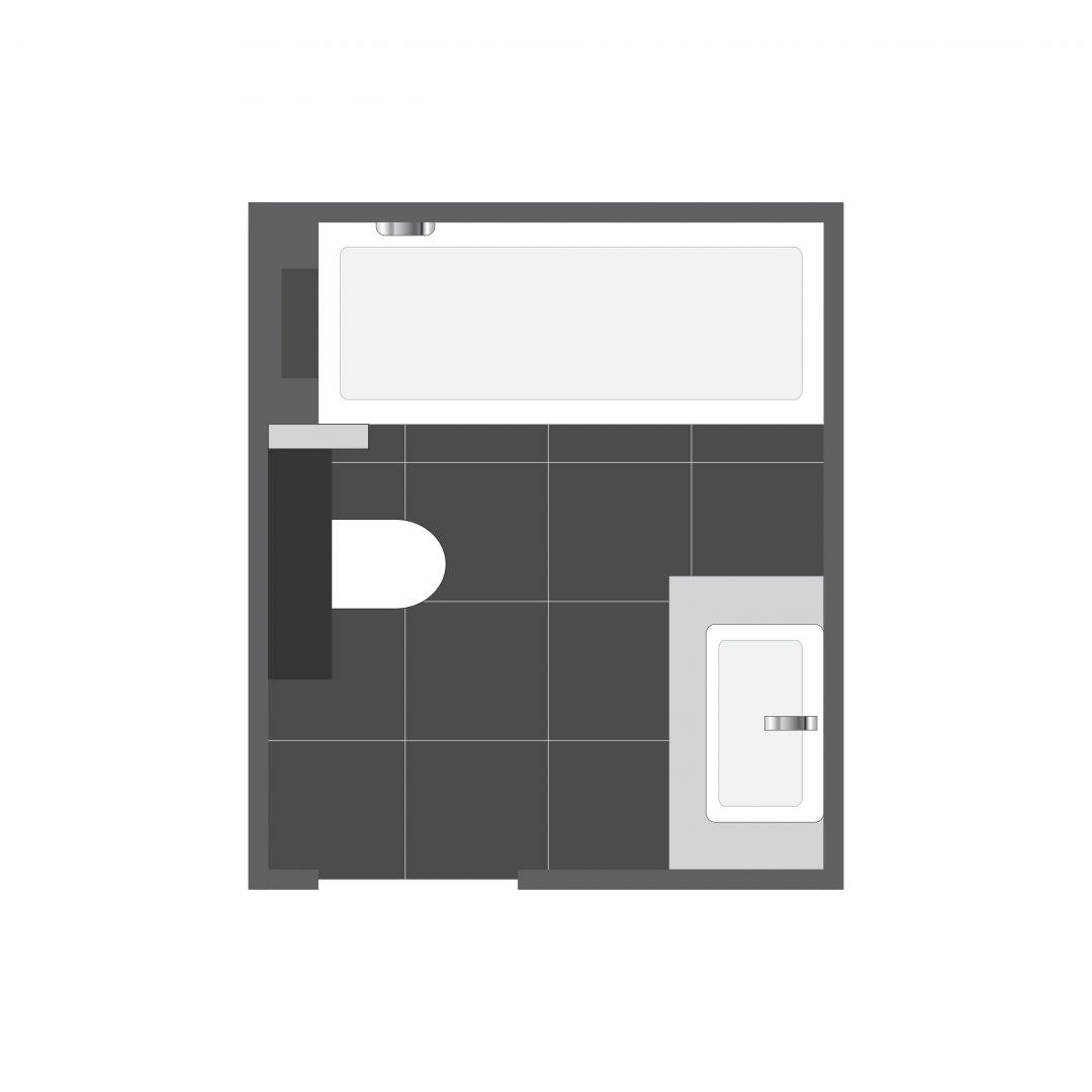 Powierzchnia łazienki: ok. 5 m².