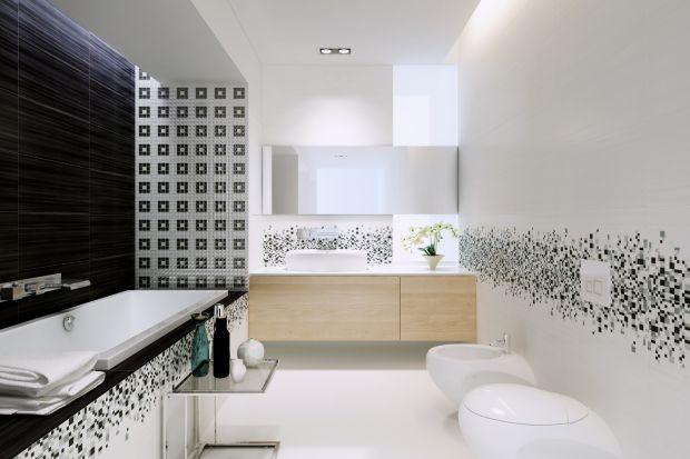 To zestawienie ponadczasowe. Biało-czarne płytki ceramiczne tworzą stylowy kontrast, który podkreśla charakter łazienki. Oto nowość marki Opoczno z geometrycznymi motywami.