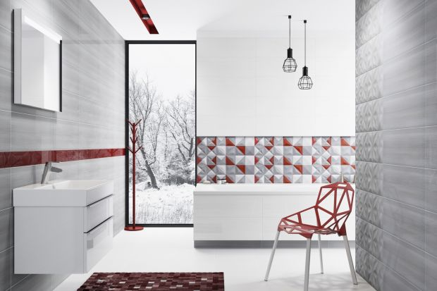 Nowoczesny, podłużny format płytek 25x75 cm coraz częściej pojawia się w naszych łazienkach. W najnowszej kolekcji Opoczno tonu nadają artystyczna geometria i wyraziste kolory, jaj z kubistycznych obrazów.