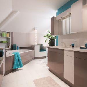 Łazienka po malowaniu farbami renowacyjnymi.