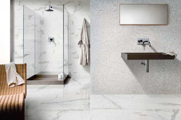 Jeśli marzy nam się elegancka, stylowa łazienka płytki ceramiczne imitujące kamień będą jak znalazł.