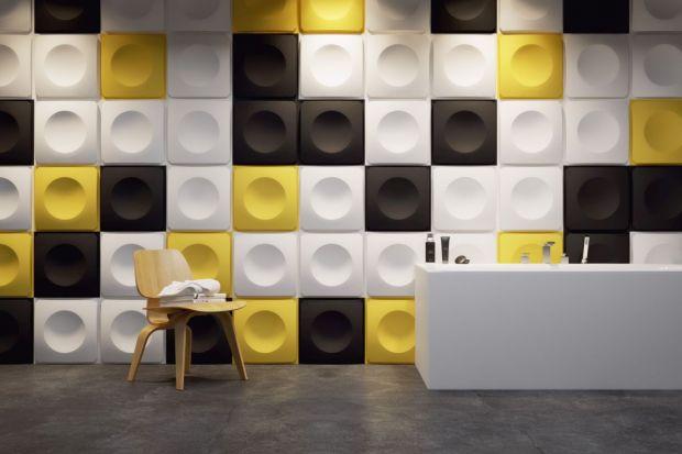 Jednym z najmodniejszych trendów aranżacyjnych jest geometria we wnętrzach. W łazience możemy skorzystać np. z ciekawych paneli ściennych.