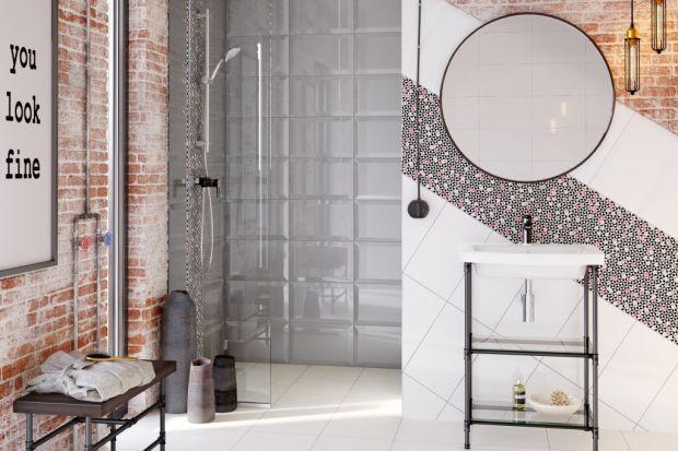 W aranżacjach łazienek nawiązujących do stylu vintage ciekawy geometryczny wzór i mały format płytek grają pierwsze skrzypce.