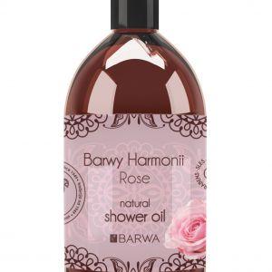 Różany olejek pod prysznic i do kąpieli z serii Barwy Harmonii  zrelaksuje i odpręży. Fot. Barwa