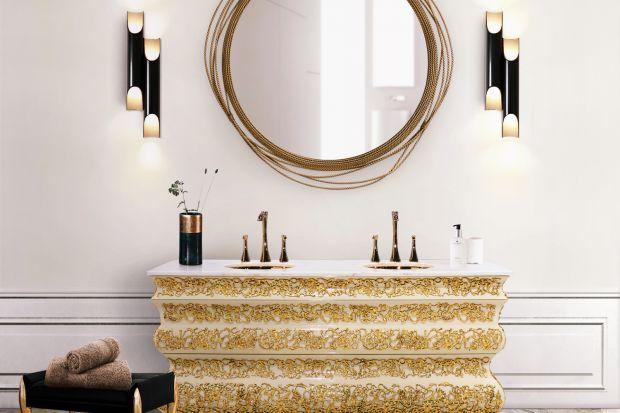 Kolory złota to odważny sposób na urządzenie łazienki. Zobaczcie 5 pomysłów na wprowadzenie złotych motywów do jej aranżacji.