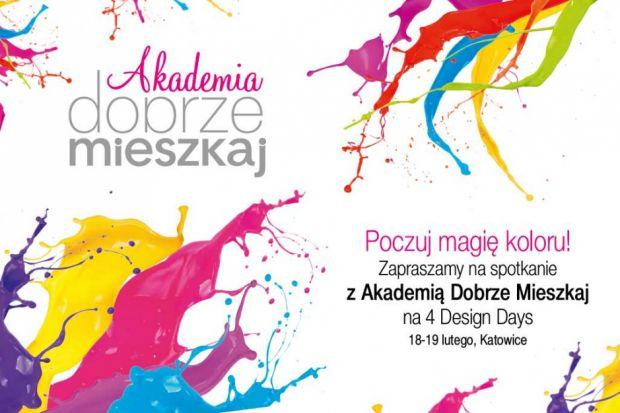 Jak wybrać kolory do wnętrza, aby mieszkało się wygodniej i szczęśliwiej? O tym będziemy rozmawiać na 4 Design Days w ramach naszej akcji edukacyjnej Akademia Dobrze Mieszkaj.