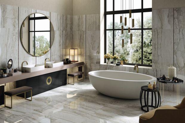 Luksusową łazienkę można urządzić na wiele sposobów, korzystając z różnych akcesoriów i materiałów. Dziś prezentujemy Wam pomysł na wnętrze w stylu Art déco.