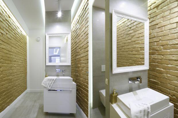 Cegła kojarzy nam się z kolorem czerwonej gliny, ale nie jest to jedyny wariant kolorystyczny, jaki możemy zastosować w naszej łazience.