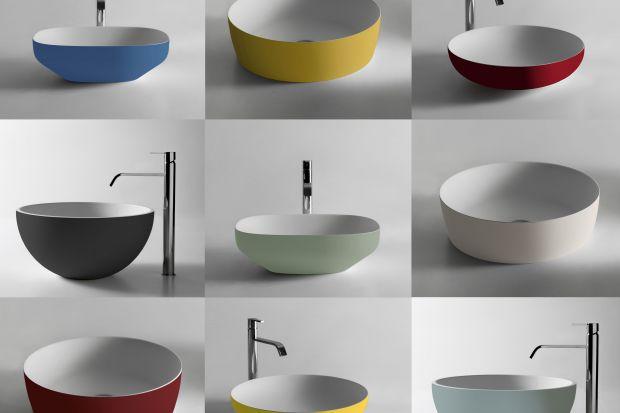 Kolorowa umywalka to odważny akcent w łazience. Zobaczcie nową kolekcję włoskiej marki.
