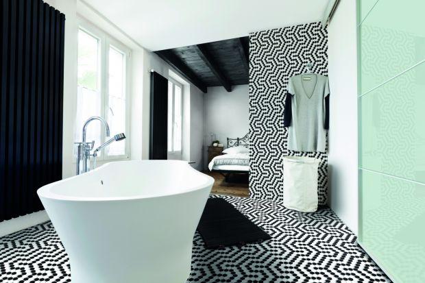 Elegancka łazienka: kolekcja płytek w kolorze black & white