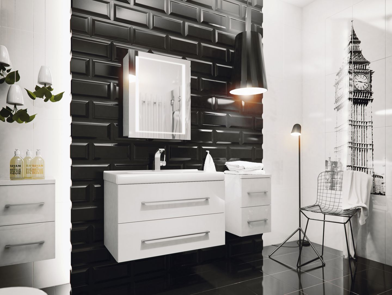 Jedna ściana podkreślona teksturową płytką czy mozaika będzie stanowiła piękny akcent dla całej toalety. Fot. Defra