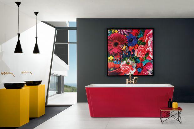 Szukasz niebanalnych rozwiązań kolorystycznych we wnętrzu? Akcent postaw na… ceramikę – umywalkę i wannę!