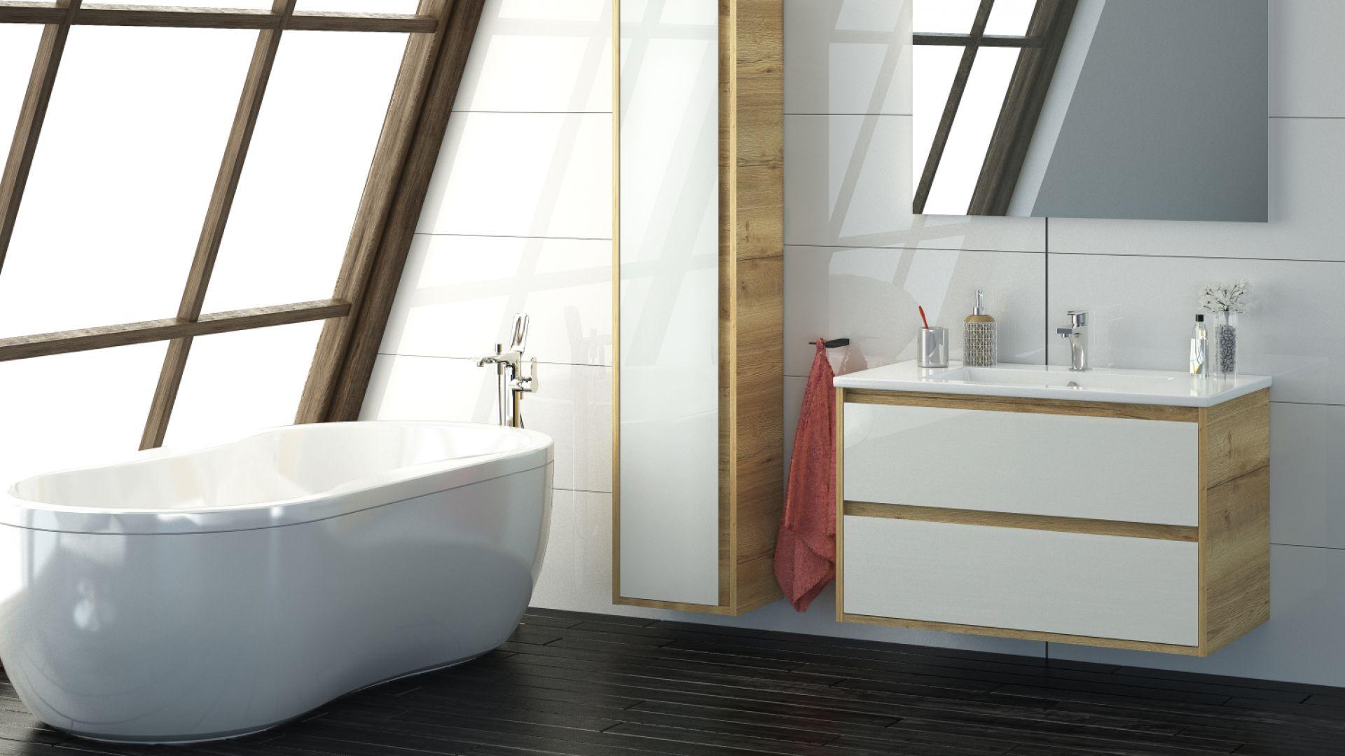 Meble łazienkowe z kolekcji Cristal firmy Devo. Fot. Devo, www.devo.pl