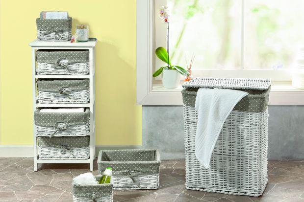 Przechowywanie w łazience: postaw na dekoracyjne kosze