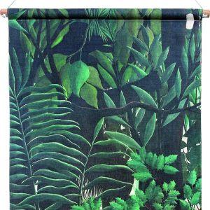 Dekoracja ścienna Las z drukowanej bawełny na drewnianej ramie; 85x60x2,5 cm. Fot. HK Living