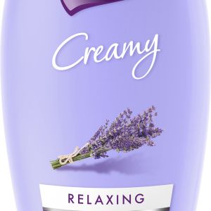 Luksja Creamy Relaxing – żel pod prysznic z naturalnym wyciągiemzlawendy pomaga zapobiegać wysuszaniu skóry oraz ma właściwości relaksujące. Cena: 5,99 zł. Fot. Luksja