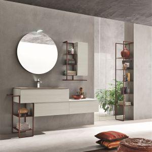 Okrągłe lustro z kolekcji mebli łazienkowych Petra. Fot Artesi