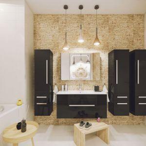 Ciemne meble łazienkowe z kolekcji Olex marki Defra. Fot. Defra