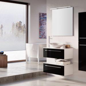 Ciemne meble łazienkowe z kolekcji Kwadro Slim firmy Elita. Fot. Elita