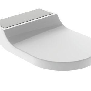 Oprócz kompleksowej instalacji toaleta Geberit AquaClean Tuma jest dostępna także jako deska myjąca, którą można montować na istniejących już miskach ceramicznych. Fot. Geberit