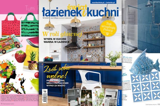 Najnowszy numer Świata Łazienek i Kuchni (3/2017) już w sprzedaży. Oddajemy go z całkiem nową szatą graficzną części trendowej: pełną pomysłów, inspiracji i kolorów.