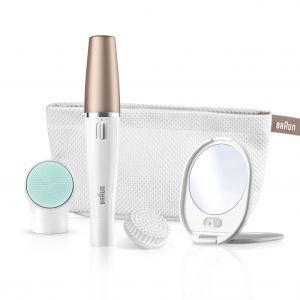 Braun FaceSpa SE851v, to urządzenie 3w1: do depilacji, oczyszczania i witalizacji skóry twarzy. Z depilatorem, szczoteczką i nakładką witalizującą. Cena: 379 zł. Fot. Braun