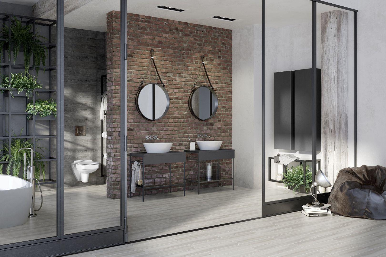 Meble łazienkowe z kolekcji Splendour idealnie wpisują się w styl industrialny. Fot. Opoczno