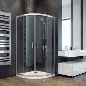 Półokrągła kabina narożna to świetne rozwiązanie do małych łazienek. Na zdjęciu kabina z serii Modern. Fot. Besco