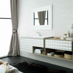 Meble łazienkowe In Luxury marki Gama Decor z trójwymiarowym frontem. Fot. Gama Decor