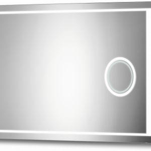 Nowoczesne oświetlenie LED w lustrach Window Zoom zapewni optymalną ilość światła w łazience. Dodatkowo praktyczne lustro powiększające z osobnym podświetleniem LED. Fot. Ruke