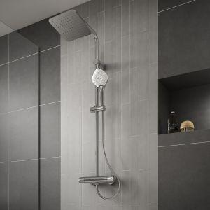 Zestaw prysznicowy z deszczownią Evo Jet Diamong V3. Fot. Ideal Drain