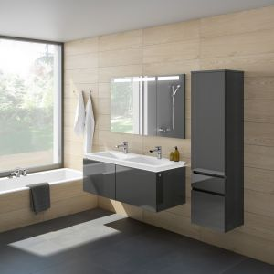 Szare meble łazienkowe z kolekcji Legato marki Villeroy & Boch. Fot. Villeroy & Boch