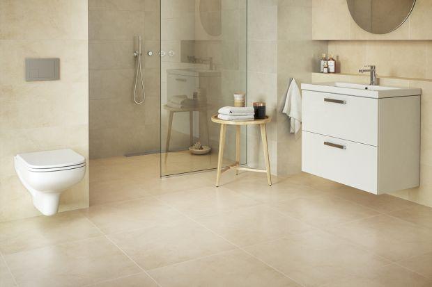 Podłoga w łazience niczym z kamienia: nowe płytki gresowe