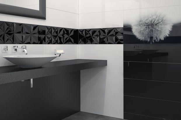Jeżeli chcemy urządzić elegancką łazienkę sięgnijmy po zestawienie awangardowej czerni z bielą. W takich kolorach jest nowa kolekcja z popularnego marketu.