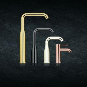 Różne wykończenia i kształty baterii z serii Essence. Fot. Grohe