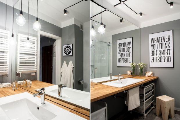 """Oświetlenie to aranżacyjna kropka nad """"i"""", dlatego trzeba uważnie dobierać je do wystroju całej łazienki. Zobaczcie, jakie pasuje do stylu loft."""