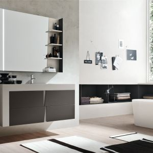 Nowoczesne meble łazienkowe z kolekcji Vector marki Ardeco. Fot. Ardeco