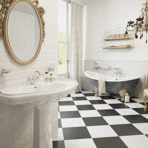 Łazienka w stylu klasycznym z armaturą Retro marki Ferro. Fot. Ferro