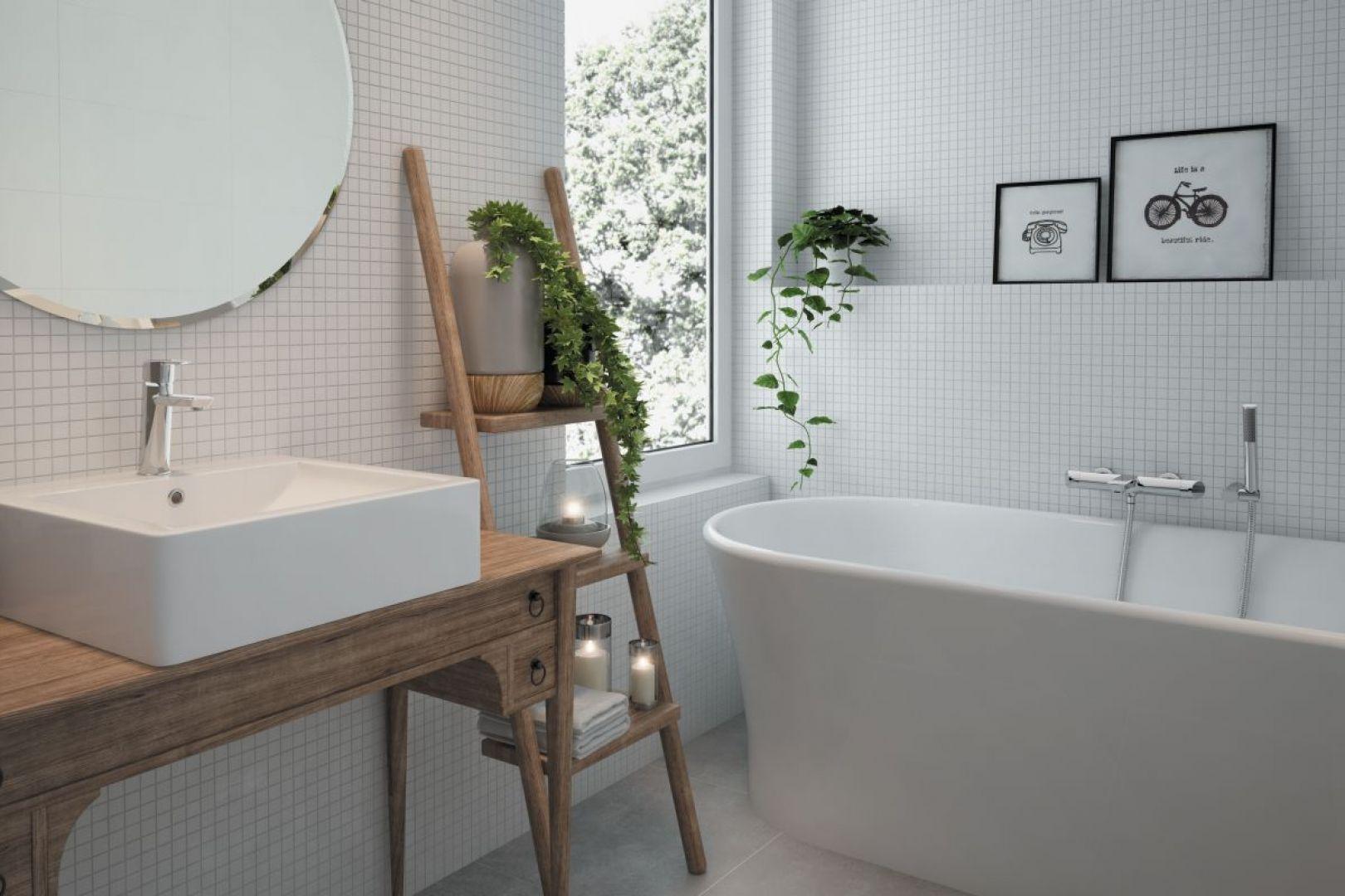 Aranżacja łazienki w stylu skandynawskim. Na zdjęciu kolekcja armatury Arnika marki Deante. Fot. Deante