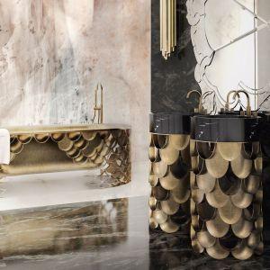Niezwykła wolno stojąca umywalka zainspirowana japońskim karpiem, Koi marki Maison Valentina. Fot. Maisson Valentina