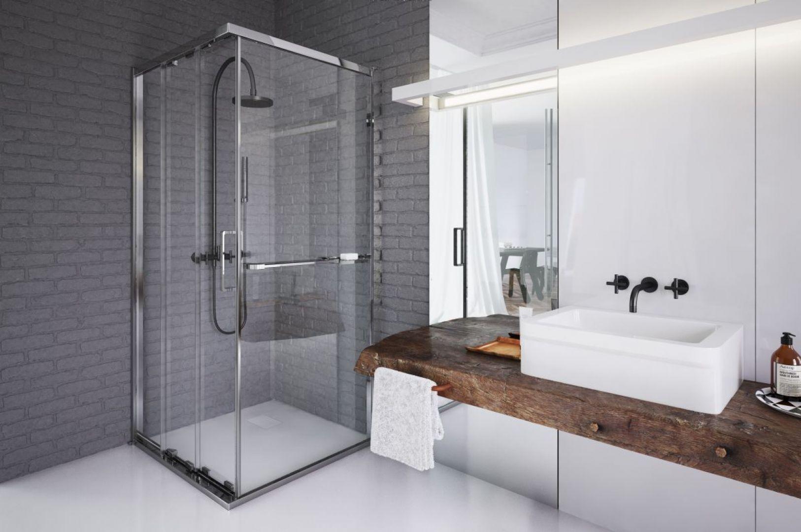 Kwadratowa kabina prysznicowa Ultra marki Koło. Fot. Koło
