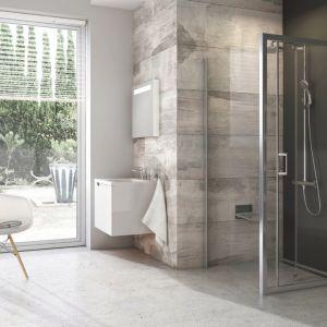 Kwadratowa kabina prysznicowa z serii Blix marki Ravak. Fot. Ravak