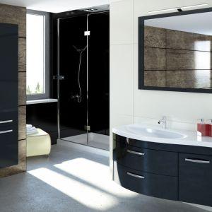 Ciemne meble łazienkowe z kolekcji Vena marki Devo. Fot. Devo
