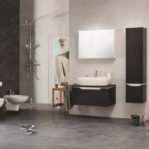 Ciemne meble łazienkowe z kolekcji Street Fusion marki Opoczno. Fot. Opoczno