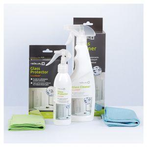 Powłokę ochronną kabiny prysznicowej co sześć miesięcy należy odświeżyć specjalnym środkiem, który wnika w mikropory i sprawia, że tafla szkła staje się gładka, odporna na osadzanie się zanieczyszczeń i rozwój drobnoustrojów. Fot. Radaway