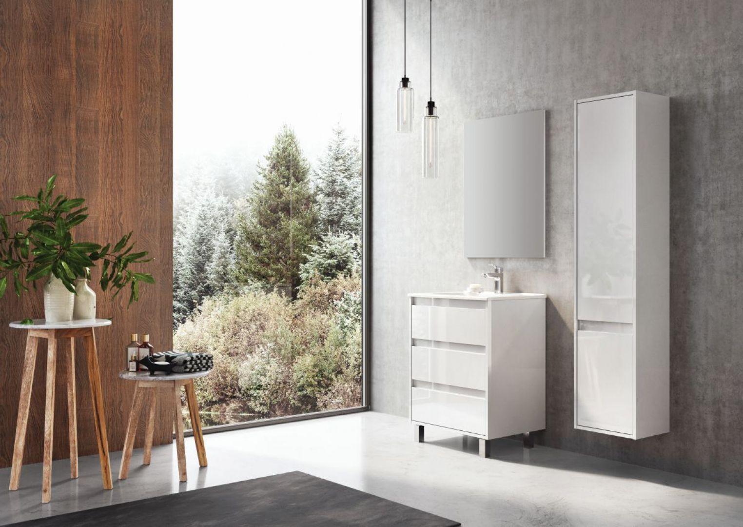 Nowoczesne meble łazienkowe z serii Desi Plus marki Elita. Fot. Elita