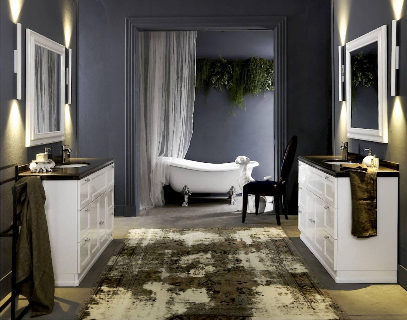 Salon kąpielowy z materiałem Noble Athos Brown. Fot. Technistone