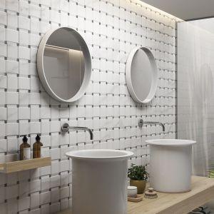 Białe płytki ceramiczne z kolekcji Akros marki Saloni Ceramica. Fot. Ceramica
