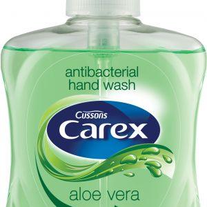 Antybakteryjne mydło Carex Aloe Vera, zostało wzbogacone ekstraktem z aloesu, znanym ze swoich właściwości łagodzących. Wspiera naturalną barierę antybakteryjną skóry. Fot. Carex